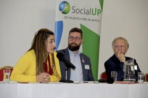 Panel - Nelli Gishyan, Martin Poliačik (poslanec NR SR), Fernand de Varennes (OSN)